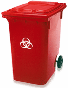 96 Gallon Medical Waste Collection Container